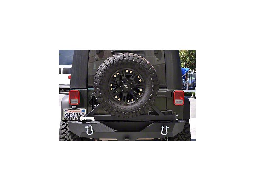 DV8 Off-Road RS-1 Rear Bumper w/ Tire Carrier (07-18 Jeep Wrangler JK)