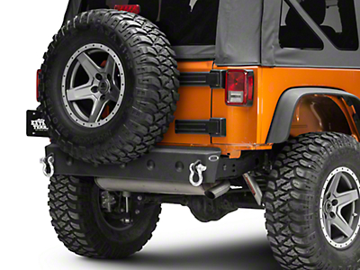 DV8 Off-Road RS-8 Hammer Forged Stubby Rear Bumper (07-18 Wrangler JK)