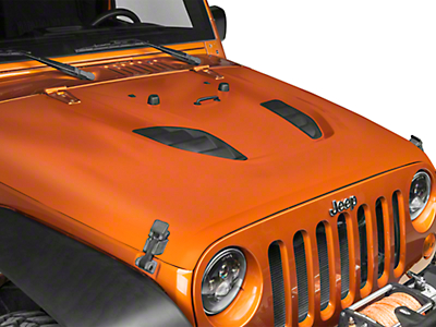 DV8 Off-Road Rubicon 10th Anniversary Replica Hood - Unpainted (07-18 Jeep Wrangler JK)