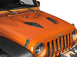 DV8 Offroad Rubicon 10th Anniversary Replica Hood; Unpainted (07-18 Jeep Wrangler JK)