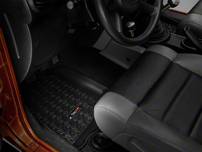 Rugged Ridge All Terrain Front & Rear Floor Liners - Black (07-17 Wrangler JK 4 Door)
