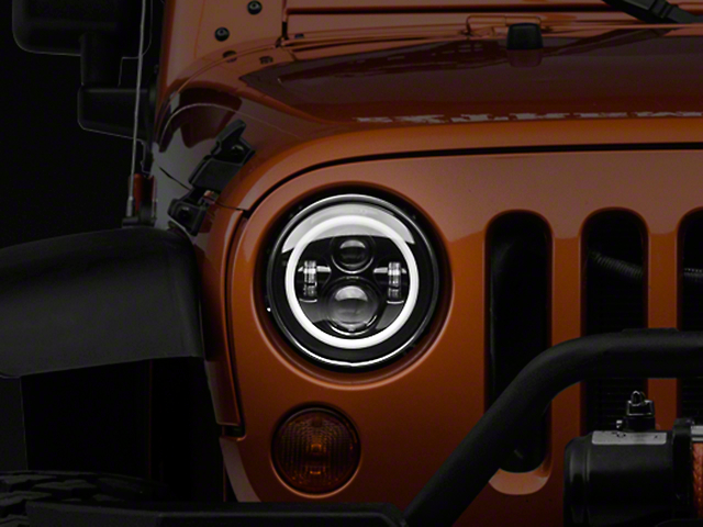 DV8 Off-Road LED Projector Headlights w/ Halo (07-18 Wrangler JK)
