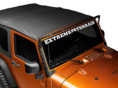 DV8 Off-Road Windshield Light Bar Mounting Bracket (07-18 Wrangler JK)