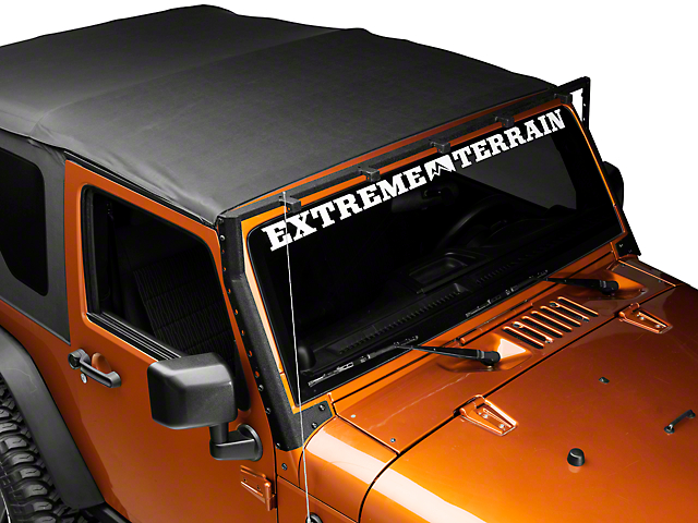 DV8 Off-Road Windshield Double Row Light Bar Mounting Bracket (07-18 Jeep Wrangler JK)