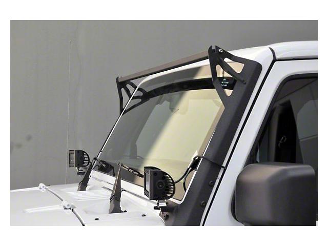 DV8 Off-Road Over Windshield Light Bar & Side/Bottom Mounting Bracket (07-18 Jeep Wrangler JK)