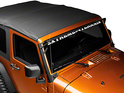 DV8 Off-Road Over Windshield Light Bar & Side/Bottom Mounting Bracket (07-18 Wrangler JK)