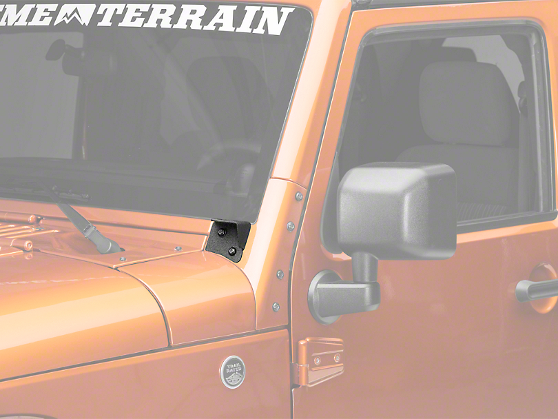 DV8 Off-Road Windshield Light Bar Bracket (07-18 Jeep Wrangler JK)
