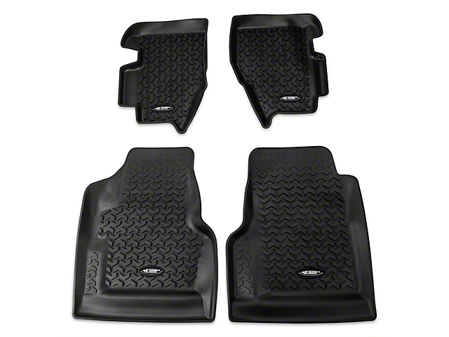 Rugged Ridge All-Terrain Front and Rear Floor Mats; Black (97-06 Jeep Wrangler TJ)