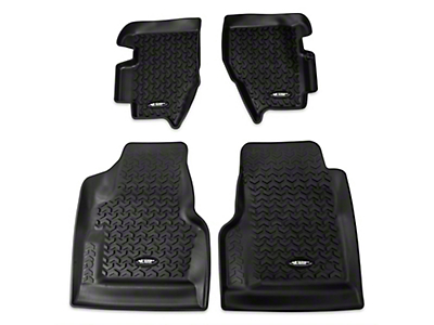 Rugged Ridge All Terrain Front & Rear Floor Liners - Black (97-06 Wrangler TJ)