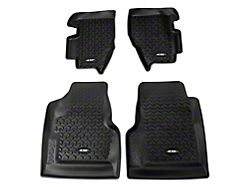Rugged Ridge All-Terrain Front and Rear Floor Mats - Black (97-06 Jeep Wrangler TJ)