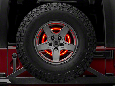 Rugged Ridge Accessory Brake Light LED Ring (87-18 Wrangler YJ, TJ & JK)