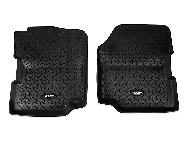 Rugged Ridge All-Terrain Front Floor Mats - Black (87-95 Jeep Wrangler YJ)