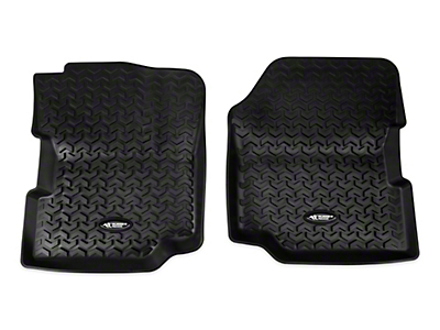 Rugged Ridge All Terrain Front Floor Liners - Black (87-95 Wrangler YJ)