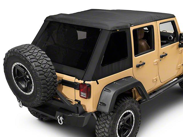 Trektop Nx Glide >> Bestop Jeep Wrangler TrekTop NX Glide Soft Top - Black Twill 54923-17 (07-18 Jeep Wrangler JK 4 ...
