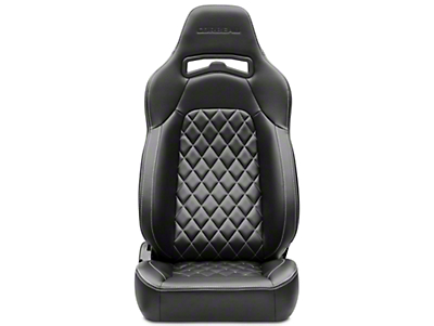 Corbeau Trailcat Diamond Pattern Seat w/ White Stitching - Black Vinyl - Pair (87-18 Wrangler YJ, TJ & JK)