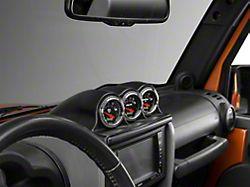 Auto Meter Dash Top Gauge Pod; Triple 2-1/16 Inch (07-10 Jeep Wrangler JK)