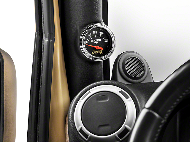 Auto Meter Water Temperature Gauge - Electrical - Jeep Logo (87-18 Jeep Wrangler YJ, TJ, JK & JL)