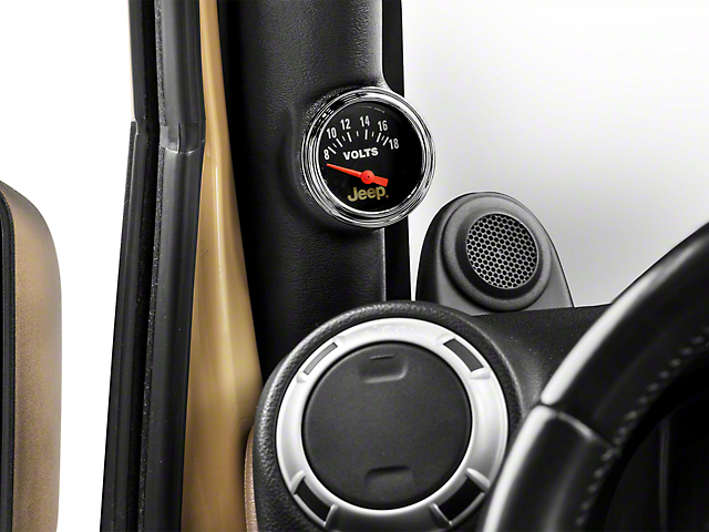 Auto Meter Voltmeter Gauge - Electrical - Jeep Logo (87-18 Wrangler YJ, TJ & JK)