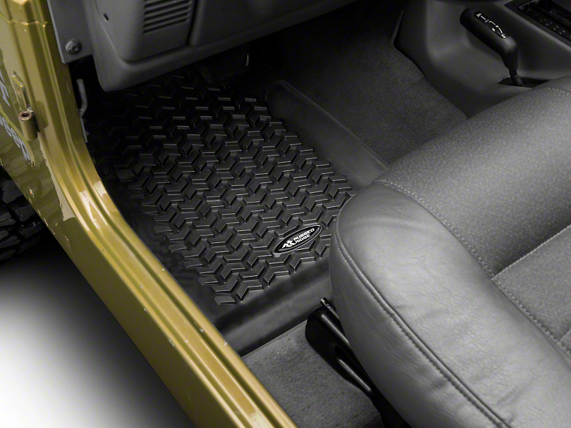 Rugged Ridge All Terrain Front Floor Liners - Black (97-06 Jeep Wrangler TJ)