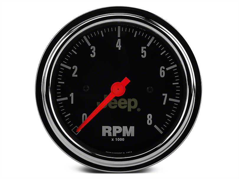 Auto Meter Wrangler In-Dash Tachometer Gauge - Electrical - Jeep ...