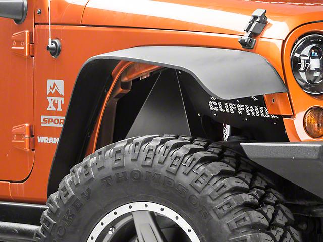 Cliffride Front Dishpan Inner Wheel Wells with LED Rock Lights (07-18 Jeep Wrangler JK)