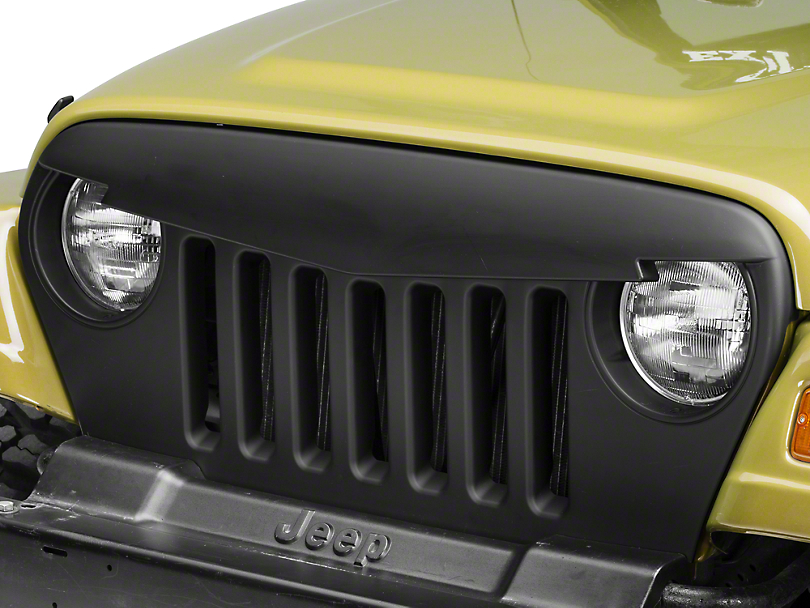 RedRock 4x4 Angry Bird Grille - Matte Black (97-06 Jeep Wrangler TJ)
