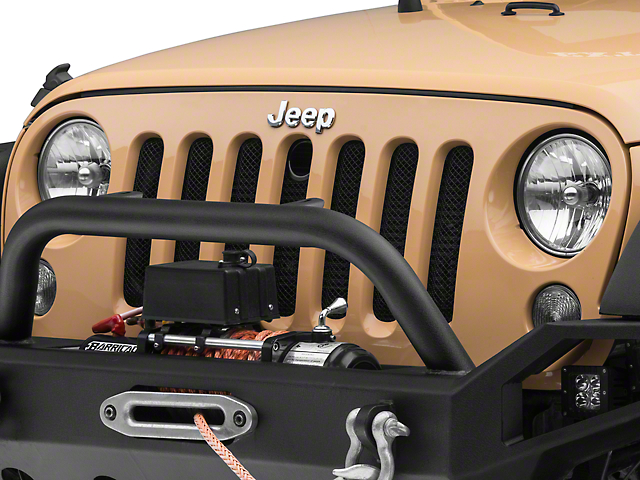 RedRock 4x4 Mesh Grille Insert - Black (07-18 Jeep Wrangler JK)