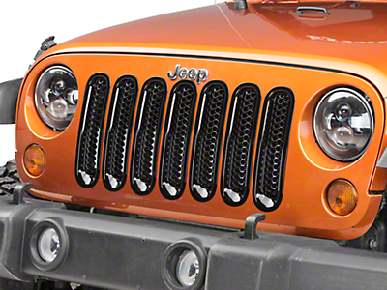 RedRock 4x4 Honeycomb Grille Inserts - Black (07-18 Jeep Wrangler JK)
