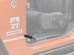 RedRock 4x4 Foot Pegs; Textured Black (07-18 Jeep Wrangler JK)