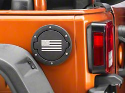 RedRock 4x4 Old Glory Fuel Door Cover - Textured Black (07-18 Jeep Wrangler JK)