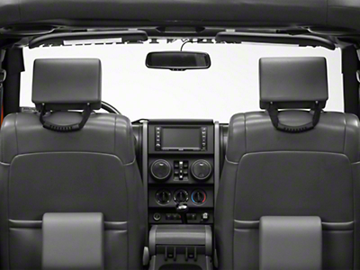 RedRock 4x4 Rear Seat Grab Handles - Pair (07-18 Jeep Wrangler JK 4 Door; 2018 Jeep Wrangler JL 4 Door)