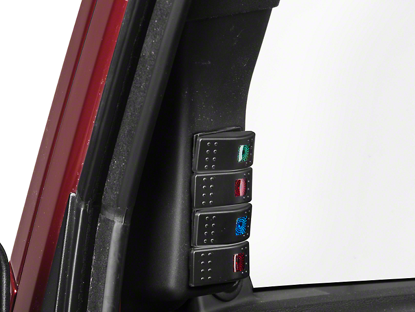 RedRock 4x4 A-Pillar 4-Switch Panel (07-18 Jeep Wrangler JK)