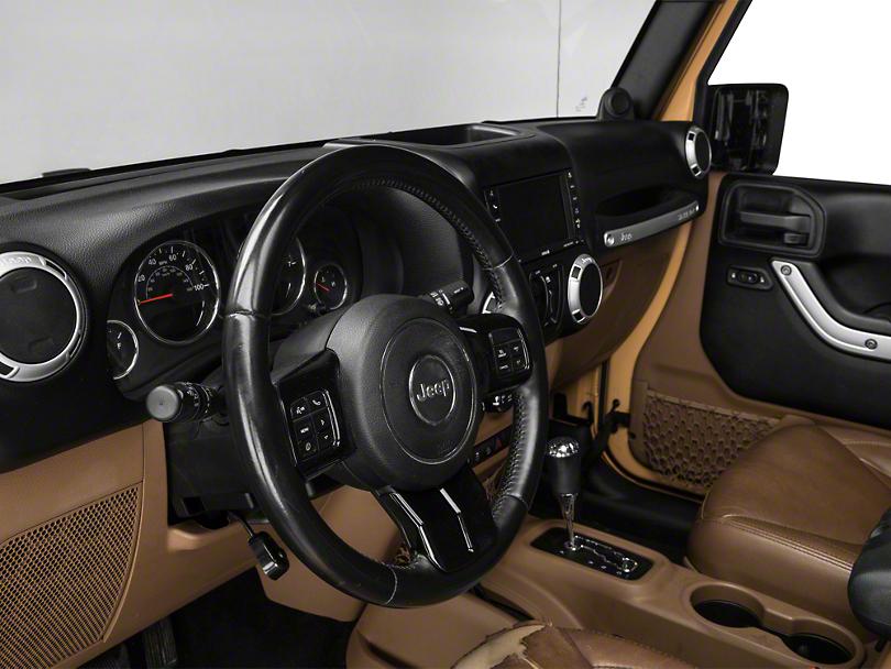 Alterum Steering Wheel Trim - Black (11-18 Jeep Wrangler JK)