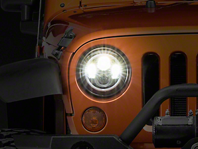 Axial LED Halo Headlights w/ DRL & Amber Turn Signals (97-18 Jeep Wrangler TJ & JK)