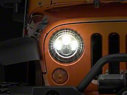 Axial LED Halo Headlights with DRL and Amber Turn Signals (97-18 Jeep Wrangler TJ & JK)