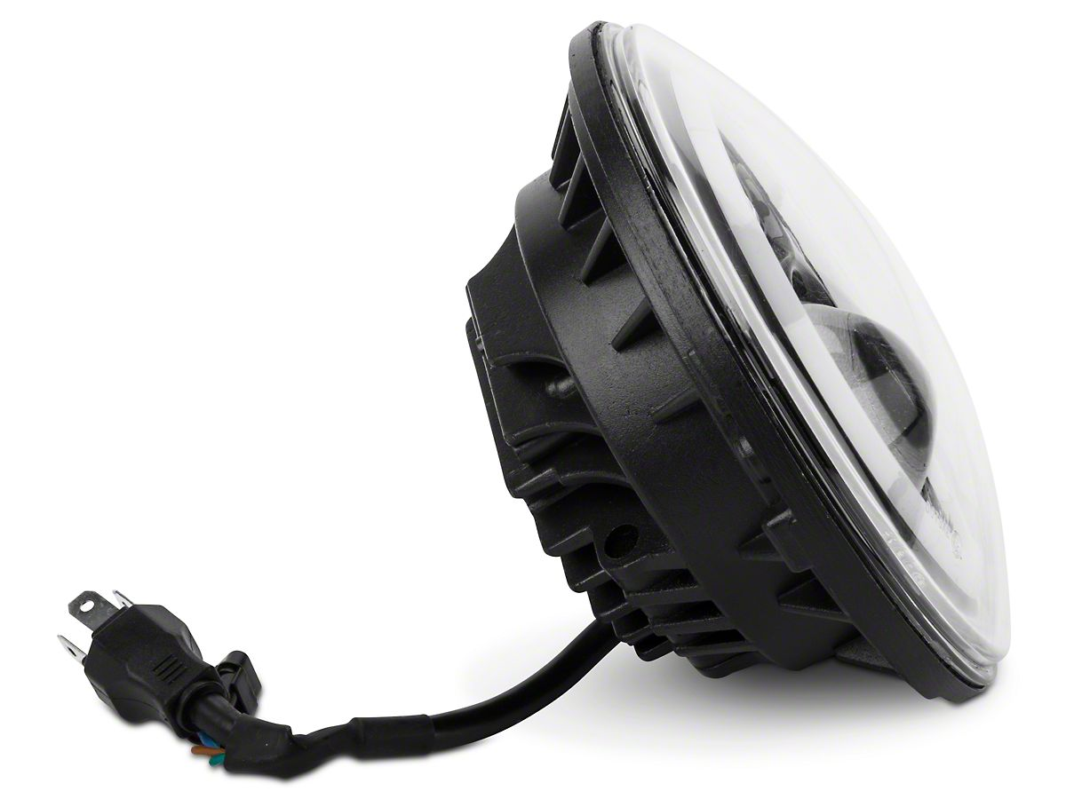 Axial LED Halo Headlights w/ DRL & Amber Turn Signals (97-18 Jeep Wrangler  TJ & JK)