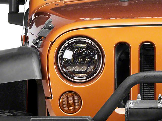 Axial LED Halo Headlights w/ Angel Eye DRL (97-18 Jeep Wrangler TJ & JK)