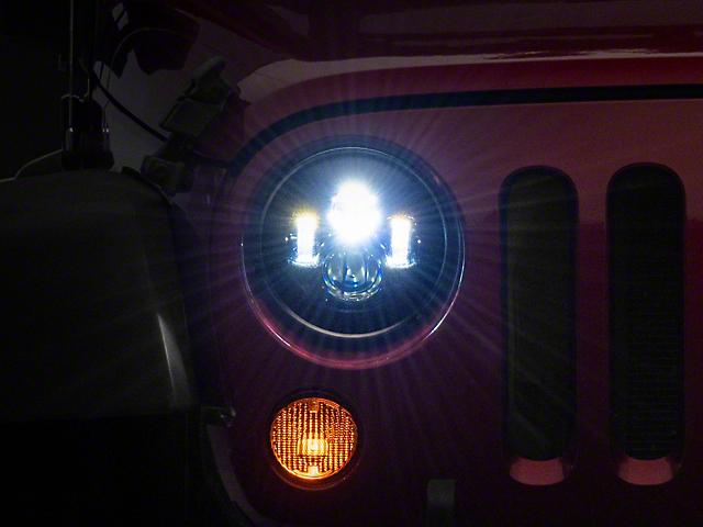 Axial LED Daymaker Headlights; Black (97-18 Jeep Wrangler TJ & JK)
