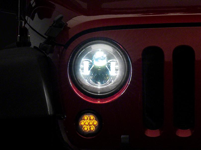 Axial LED Chrome Daymaker Headlights (97-18 Jeep Wrangler TJ & JK)