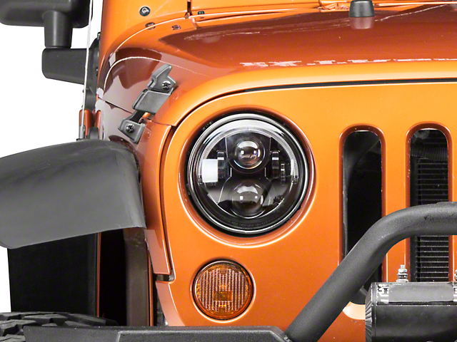 Axial LED Evolution Headlights w/ DRL (97-18 Wrangler TJ & JK)