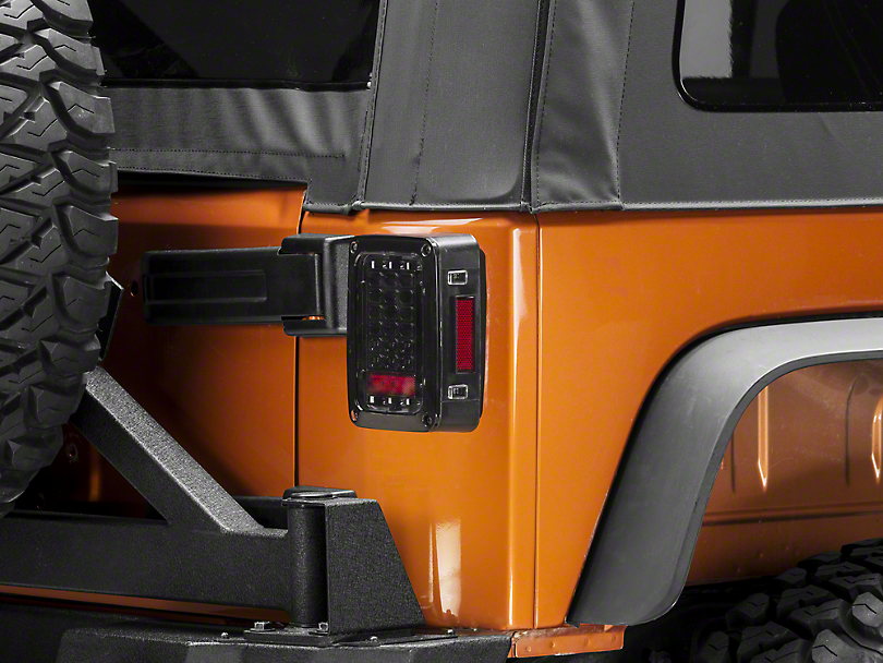 Axial LED Tail Lights - Gloss Black Housing (07-18 Jeep Wrangler JK)