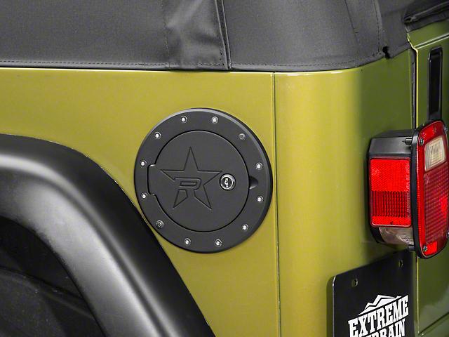 RBP RX-2 Locking Fuel Door - Black (97-06 Jeep Wrangler TJ)