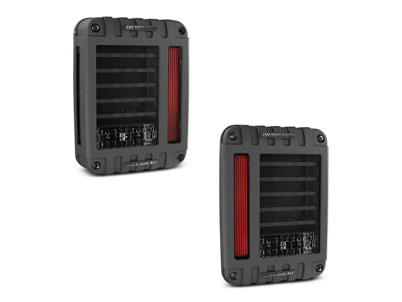J.W. Speaker J Series LED Tail Lights - Black (07-17 Wrangler JK)