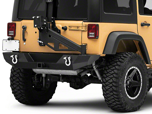 Barricade Trail Force HD Rear Bumper with E-Z Open Tire Carrier (07-18 Jeep Wrangler JK)
