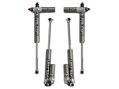 Teraflex Falcon Series 3.3 Adjustable Piggyback Front & Rear Shocks for 2.5-3 in. Lift (07-18 Jeep Wrangler JK)
