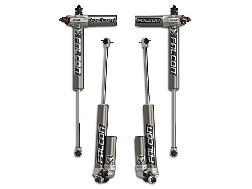 Teraflex Falcon Series 3.3 Adjustable Piggyback Front and Rear Shocks for 5 to 6-Inch Lift (07-18 Jeep Wrangler JK)