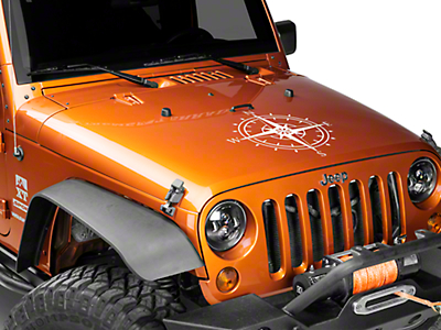 XT Graphics Compass Decal - White (87-18 Jeep Wrangler YJ, TJ, JK & JL)