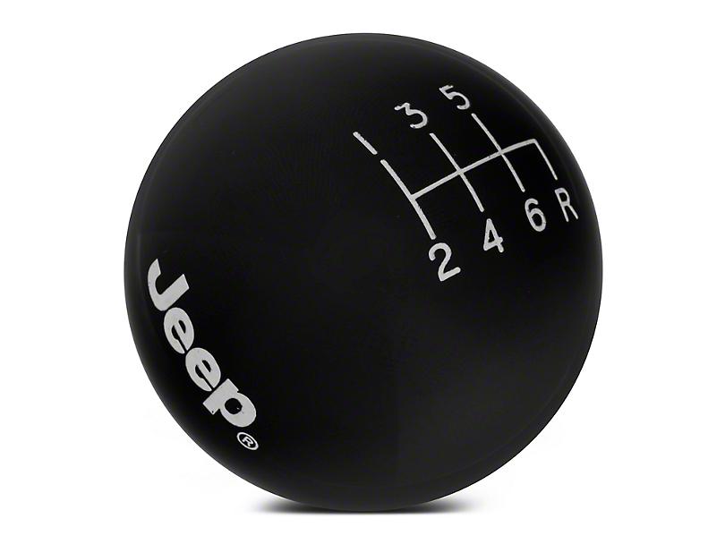 Speed Dawg Shift Knob w/ Jeep Logo - Black (07-10 Jeep Wrangler JK)