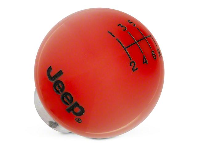Speed Dawg Shift Knob w/ Jeep Logo - Red (11-18 Jeep Wrangler JK)