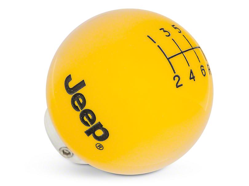 Speed Dawg Shift Knob w/ Jeep Logo - Yellow (11-18 Jeep Wrangler JK)